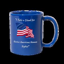 I take a stand for Native Americans Mug Civil Rights US Flag
