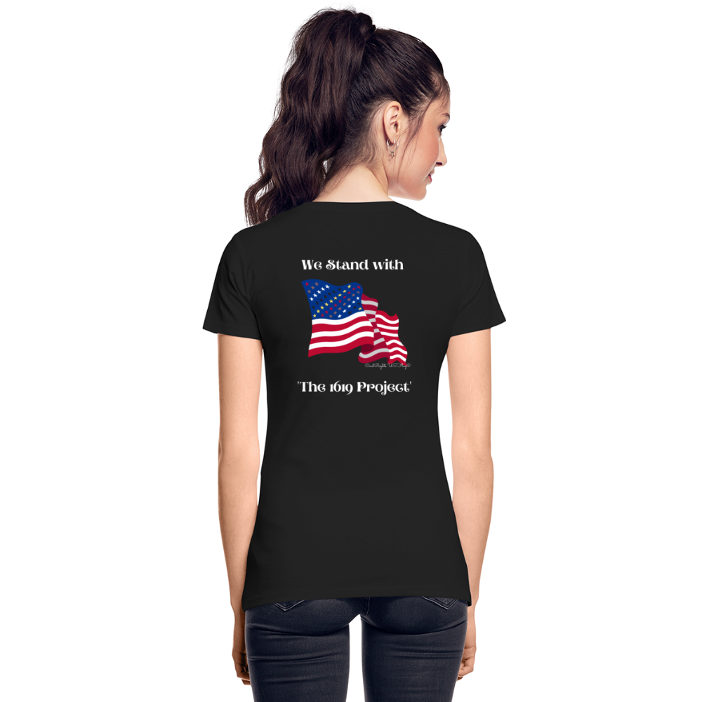 The 1619 project organic T-shirt for women back view