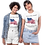 Two girls wear white t-shirts with the Civil Rights US flag on it, and the words America takes a stand