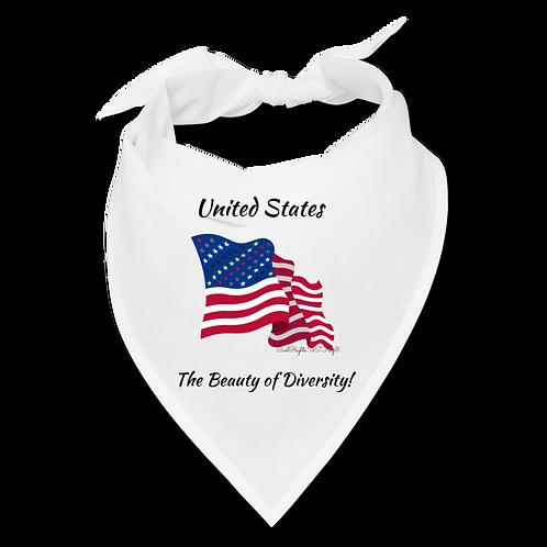 US the Beauty of Diversity, White Civil Rights US-Flag Bandana