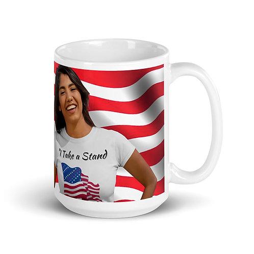 I TAKE A STAND, Civil Rights US-Flag Mug 1