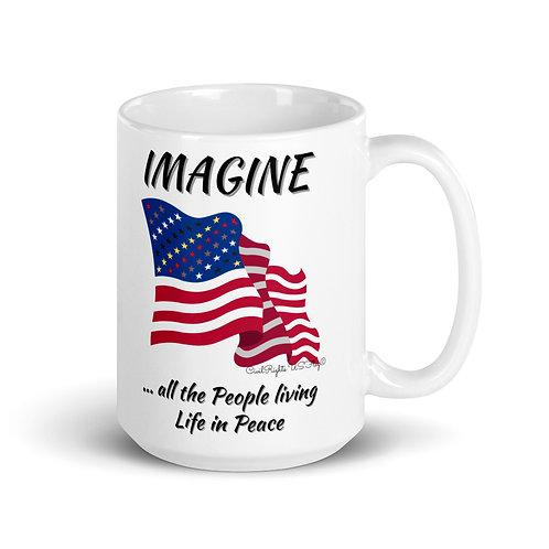 IMAGINE, Civil Rights US-Flag Mug 1