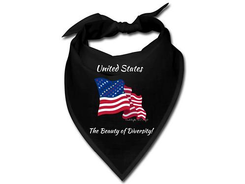 US the Beauty of Diversity, Black Civil Rights US-Flag Bandana