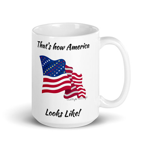That's how America looks like, Civil Rights US-Flag Mug 1