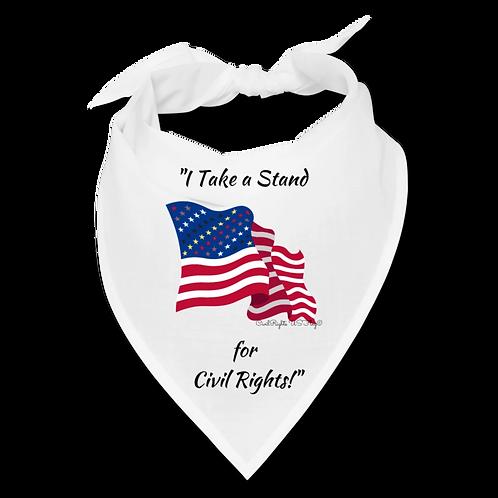 I take a Stand for Civil Rights, White Civil Rights US-Flag Bandana