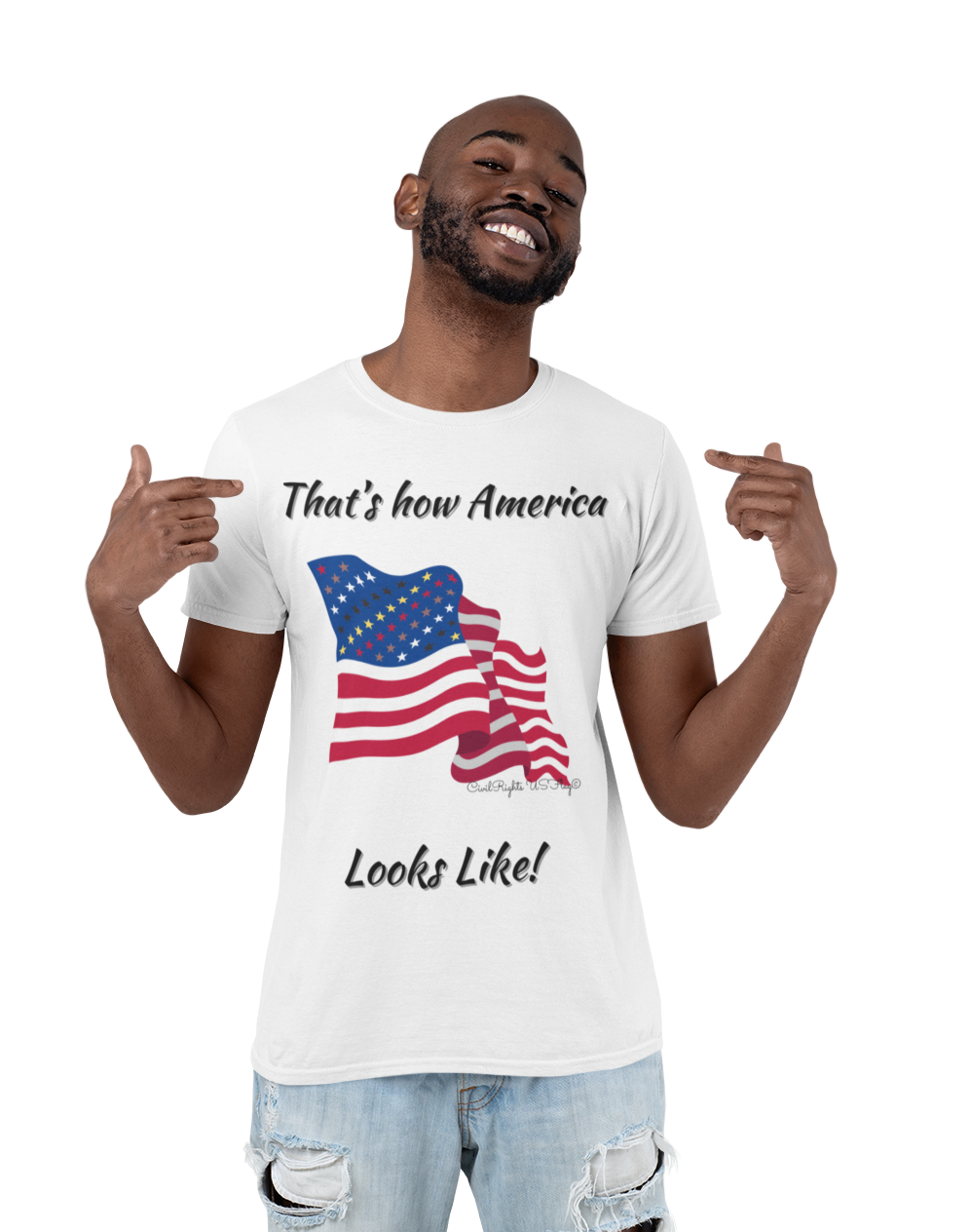 Civil Rights US Flag Eco friendly T-Sirt
