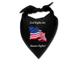 Civil Rights US Flag Civil Rights are Human Rights Bandana
