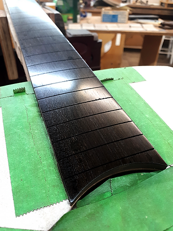 Finished and Oiled Ebony Fretboard
