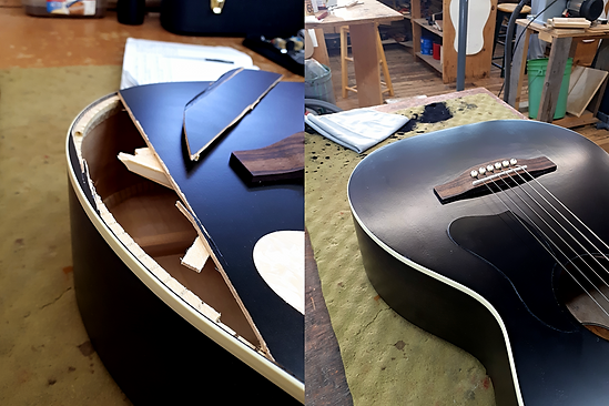 Black Acoustic Repaired