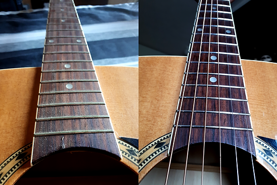 Acoustic Before And After Cleaning