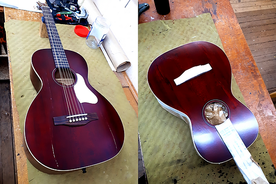 Red Acoustic Repaired