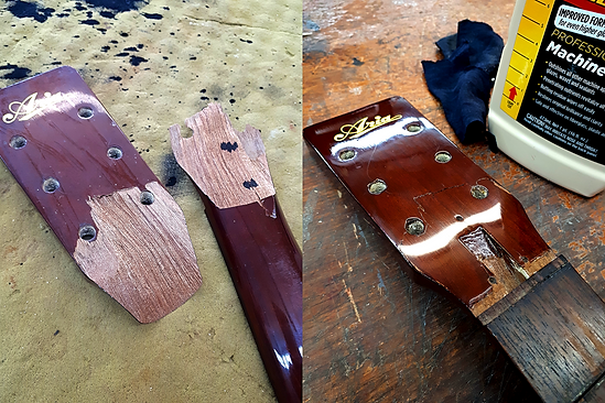Broken Headstock Repair