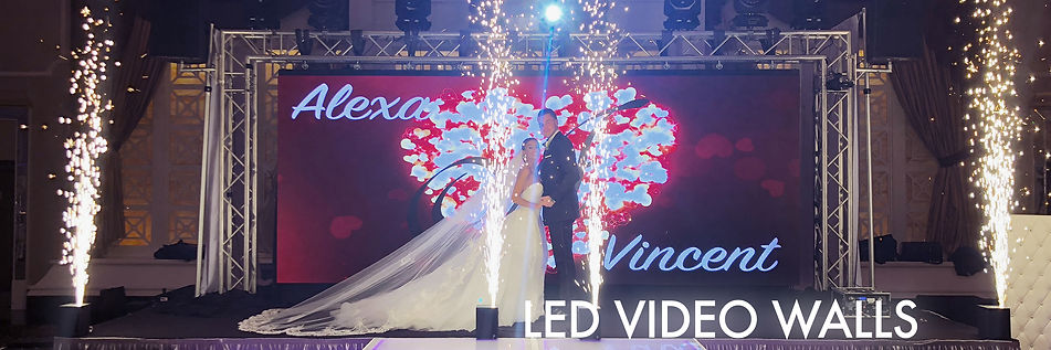 LED Video Wall For Weddings
