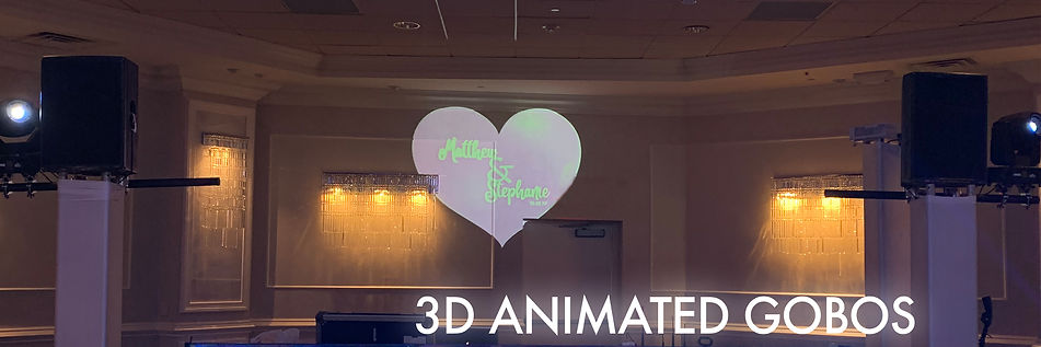 Animated Gobos for Wedding Production