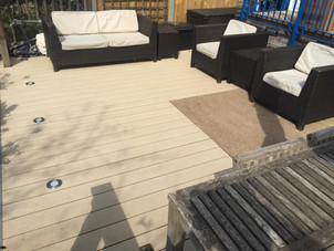 Cream - Installed by Peters Decking Services