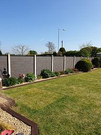 Composite Fence Boards in Concrete Posts