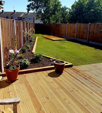 Wood Decking installed by The Decking and Fencing Centre in Essex