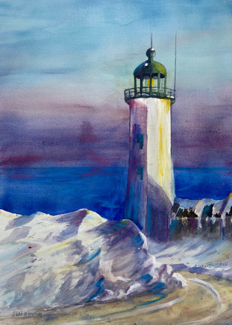 Scituate Light in Winter