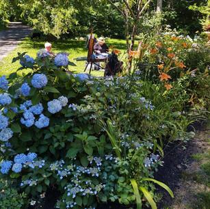 Ellis House Grounds - painters - June 2021 by Linda Bornstein