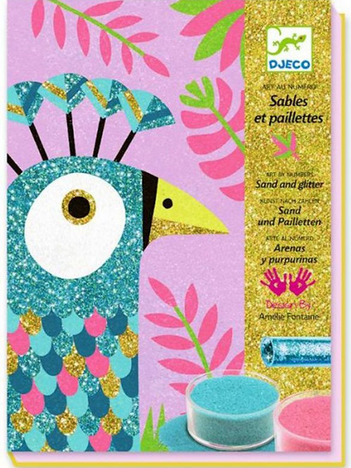Sables colorés - Eblouissants oiseaux