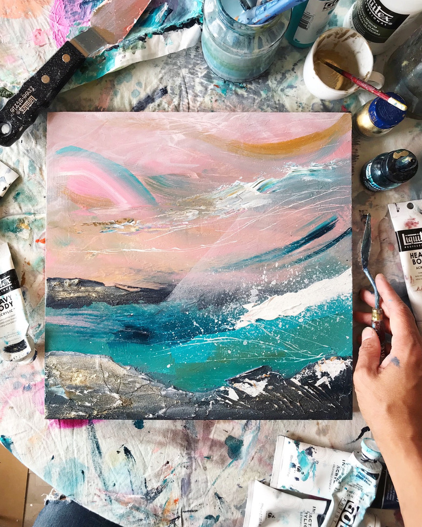 Abstract Seascape Phoebe Gander Art
