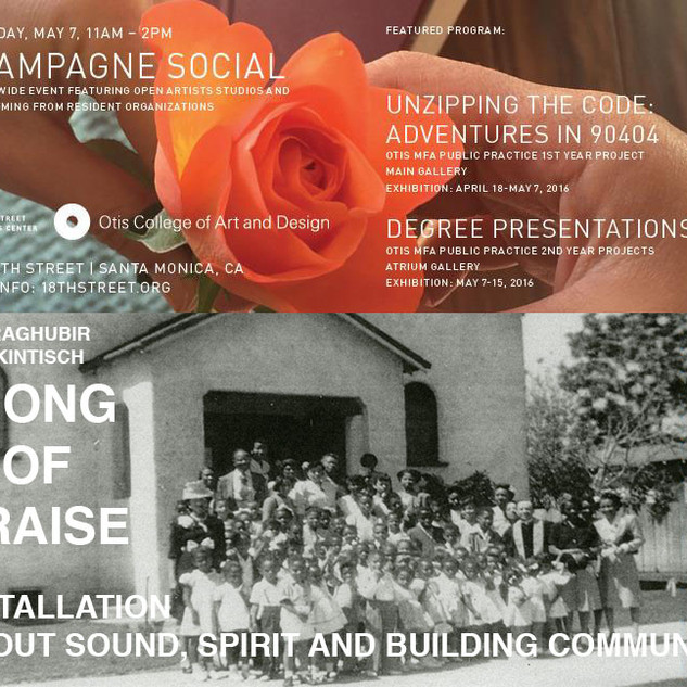 Personal Invitation to SONG of PRAISE at 18th Street Arts Center, 2016