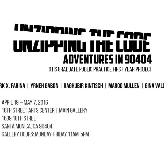 Invitation to Unzipping The Code, Adventures in 90404, 2016
