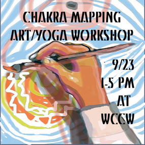 Chakra Mapping Art/Yoga Workshop, 2017, Women's Center for Creative Work, Los Angeles, CA