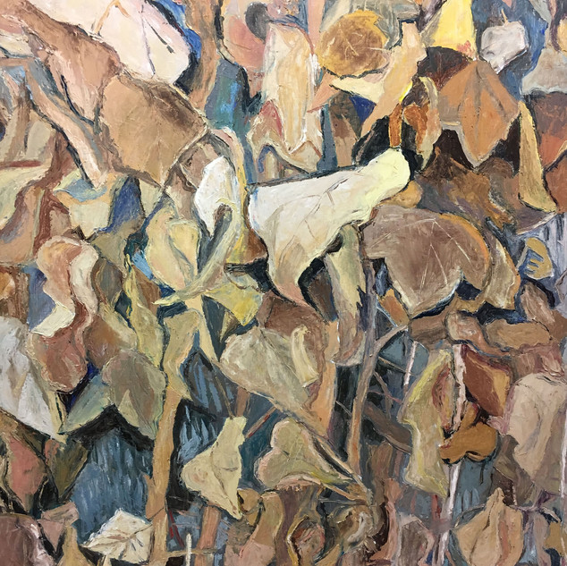 """Hedera helix, Common Ivy, 2017 oil on linen, 50w x 62""""h"""