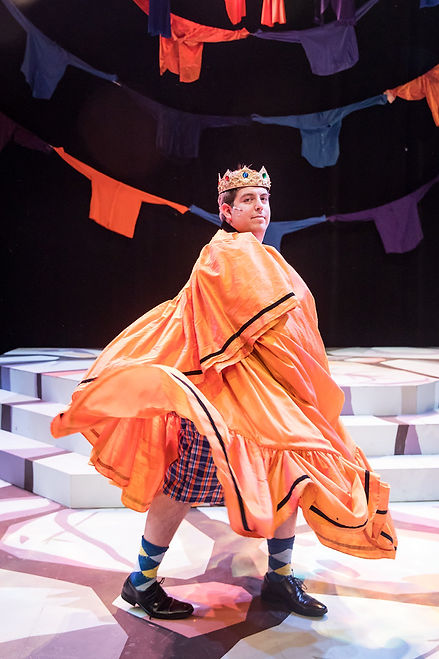 Emperor's New Cloths beautiful costumes Patagonia Sanja Manakoski Costume Design Chicago New York Theatre.