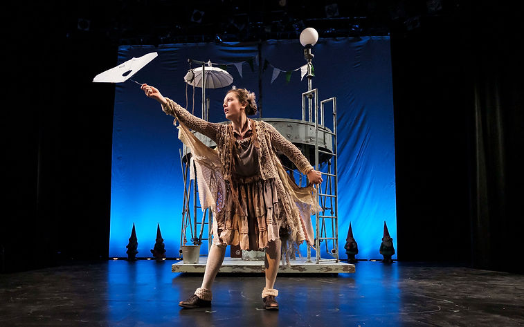 When She Had Wings Northwestern University Wallis Theatre Costume Design by Sanja Manakoski directed by  Rives Collins