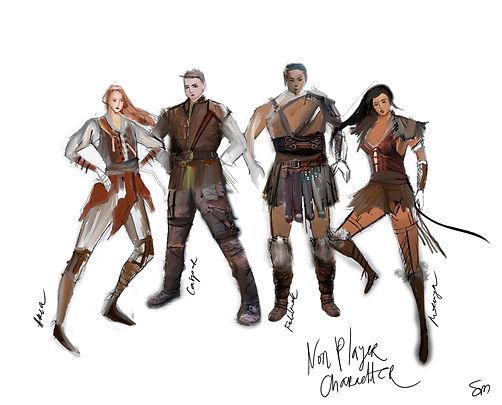 Costume Design Chicago Theatre Sanja Manakoski Non Player Character Walt McGough Game Costume Characters Drawing Illustration