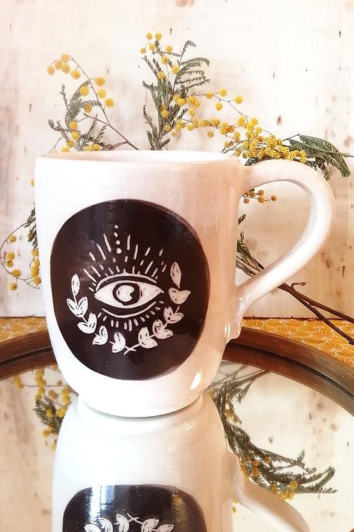 Tasse œil feuillage