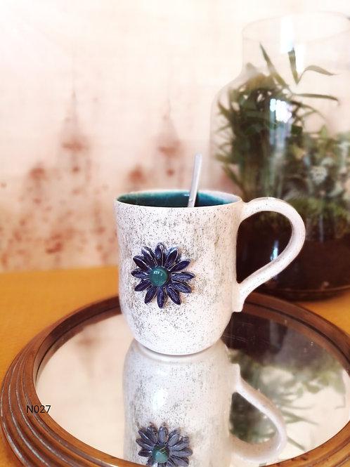 Tasse fleur bleue