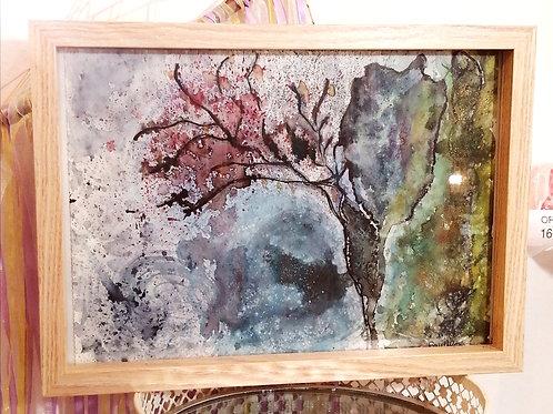 """Aquarelle """"l'arbre des souvenirs"""""""
