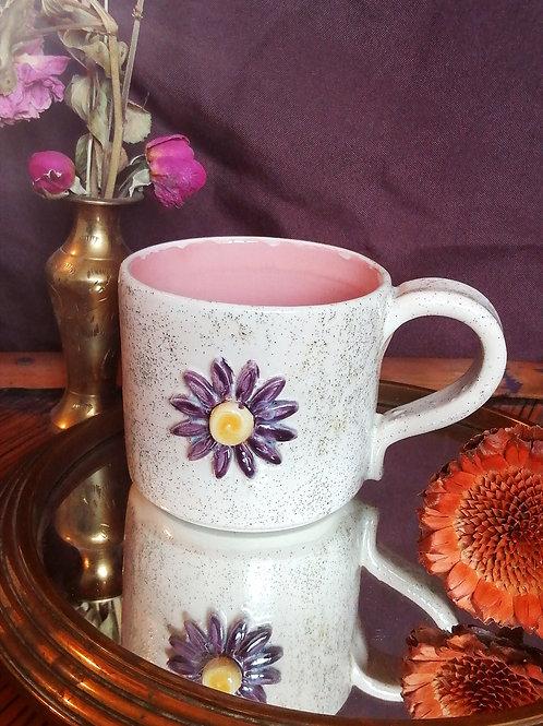 Tasse fleur rose