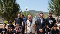 With King Abullah and Prince Hussein
