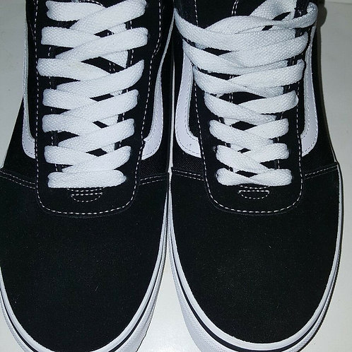 VANS WARD HI TOP MEN SKATE SHOES;SUEDE/CANVAS;BLACK/WHITE;VN0A36ENC4R
