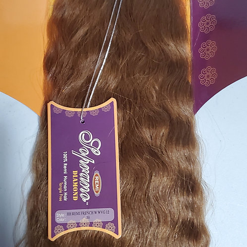 100% REMI HUMAN HAIR TANGLE FREE;FRENCH WAVE WEAVING; SOPRANO DIAMOND;WAVY