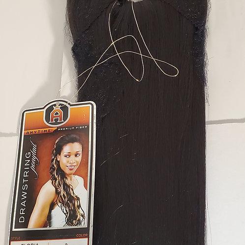 Drawstring ponytail; premium fiber; style Floria; Straight; 14 inch; for women;