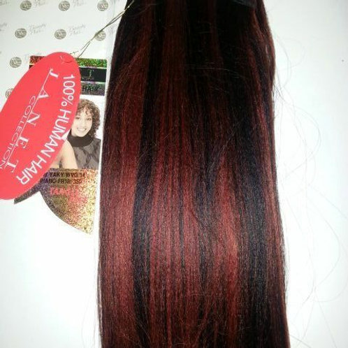 "100% HUMAN HAIR NEW YAKY WEAVE 14""#FR1B/350;STRAIGHT;JANET;TANGLE FREE;PLATINUM"
