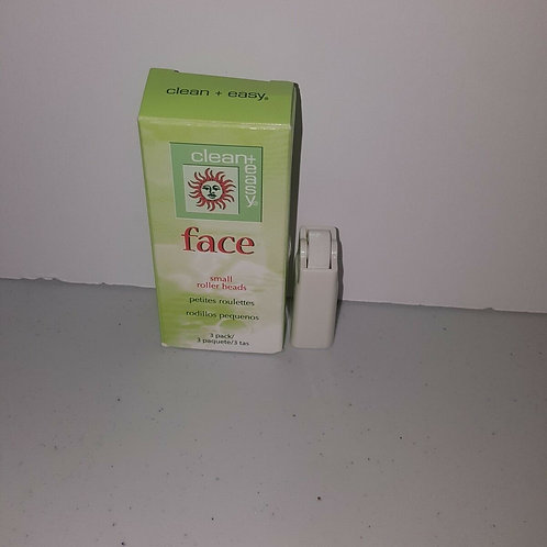 LOT OF 6 CLEAN+EASY FACE SMALL ROLLER HEADS;( 3 PACKS X 6)