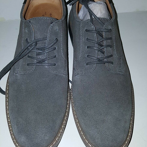 GH BASS PASADENA MEN'S OXFORD SHOES; LEATHER/ SUEDE/ GREY/00261915010