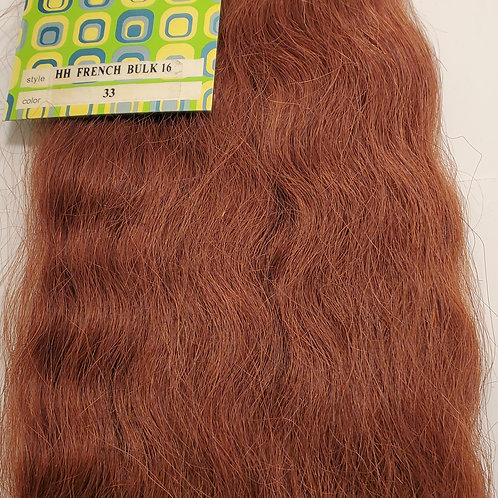 100% Human Hair tangle-free; French Bulk; Braiding hair; Wavy; for Women; Outre