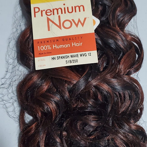 100% HUMAN HAIR WEAVE; SENSATIONNEL PREMIUM NOW;SPANISH WAVE;CURLY;12 INCH;WOMEN