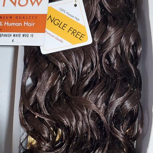 100% HUMAN HAIR WEAVE;SENSATIONNEL PREMIUM NOW; SPANISH WAVE; CURLY; COLOR 4