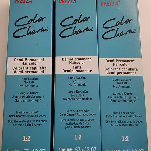 Lot of 3 Wella color charm demi permanent hair color; no ammonia; Unisex