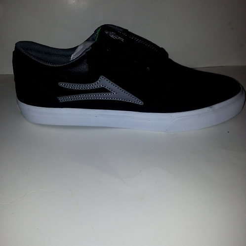 GIRL X LAKAI GRIFFIN MEN'S SKATEBOARD SHOES; SUEDE;BLACK/GREY/MS317-0227-A00