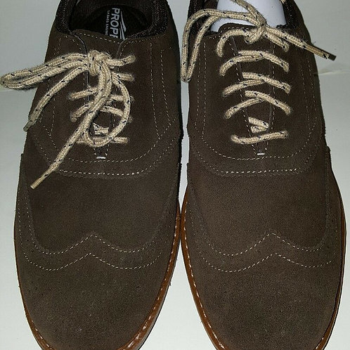 GH BASS PROPEL WINGTIP MEN'S OXFORD SHOES; BROWN; LEATHER/SUEDE/10442926200