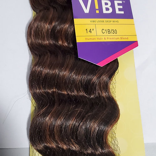 HUMAN HAIR & PREMIUM BLEND LOOSE DEEP WEAVING/VIBE BY OUTRE/CURLY/WEFT